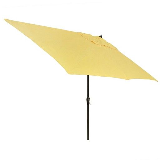6.5' x 10' Rectangle Umbrella - Yellow - Black Pole - Threshold™ : Target