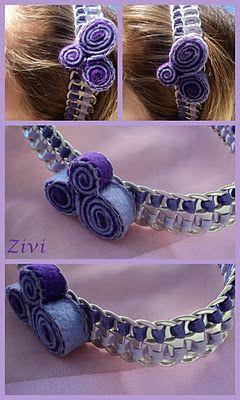 El Rinconcito de Zivi: diademas con anillas - feltro