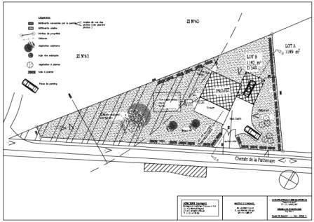 Permis de construire plan du terrain implantation de la maison