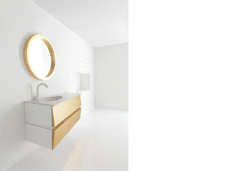 """OBERON""  BATHROOM FURNITURE,home,new,interior design,accesories,set,new,style,bath,tiles,product,idea,decoration,woman,mirror,porcelain,επιπλο μπανιου,μπανιο,νιπτηρας,καθρεπτης,πλακακια,idea,spa,architecture,decoration,GOLD,white"