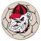 Ncaa University of Georgia Bulldog Logo Cream (Ivory) 2 ft. 3 in. x 2 ft. 3 in. Round Accent Rug