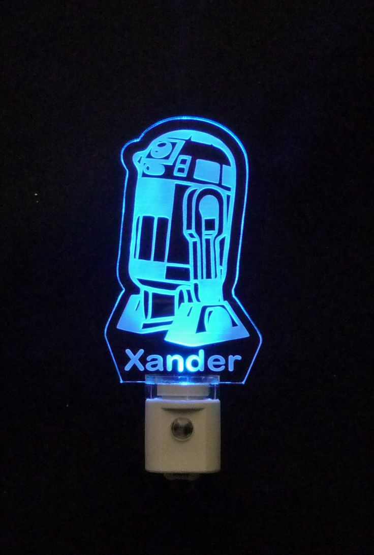 Personalized Custom #StarWars #R2D2 LED Night Light   Unique LED Products  3/8