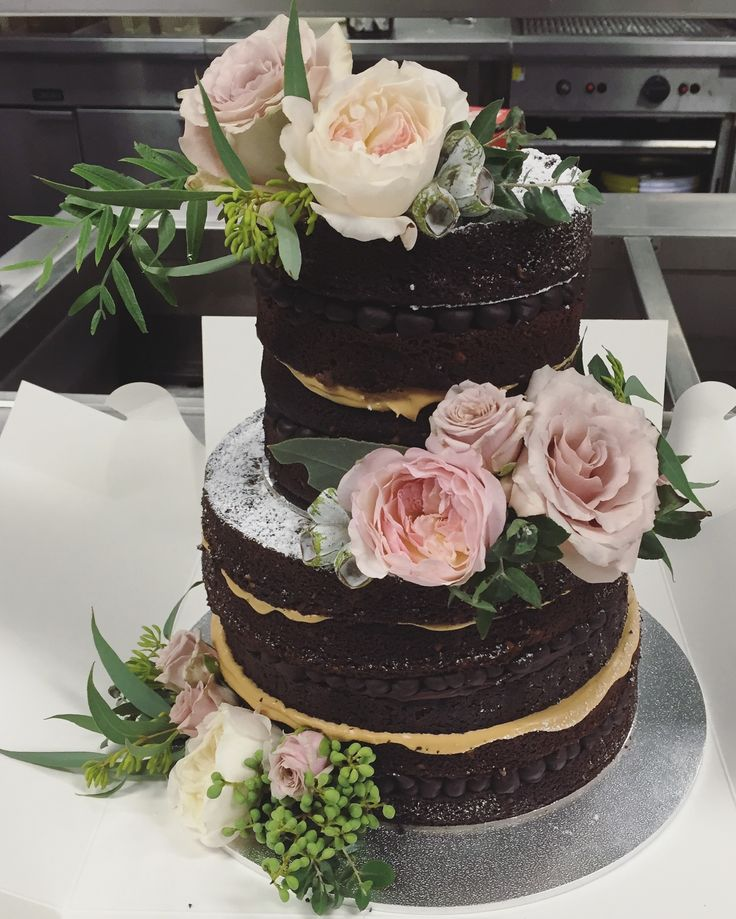 Romantic Rustic Cake Flowers by Blooms + Twine Floral Studio
