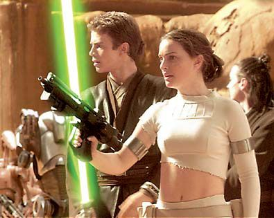 Natalie Portman as Princess Amidala in Star Wars (with Anakin Skywalker)