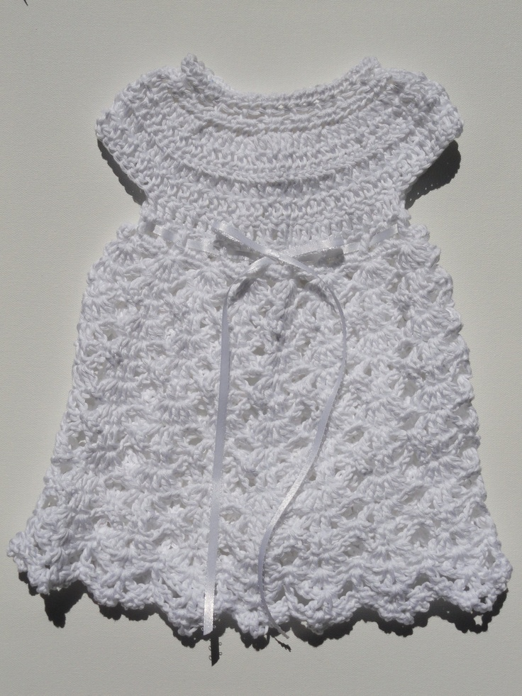Elegant Rebecca Dress Crochet Pattern Sizes 0-3 Months and 3-6 Months. $5.50, via Etsy.