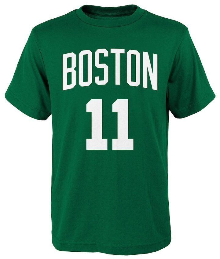 NBA Boys 8-20 Boston Celtics Kyrie Irving Player Name & Number Replica Tee
