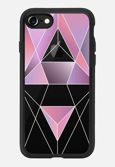 Casetify iPhone 7 Classic Grip Case - Geometric pink by Marta Olga Klara #Casetify