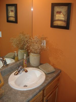 excellent orange bathroom floor | 17 Best images about Orange Bathrooms on Pinterest | Tile ...