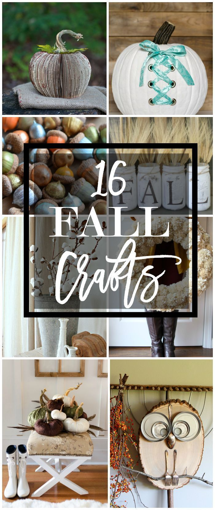 16 fall craft ideas for Home economics classroom decorations