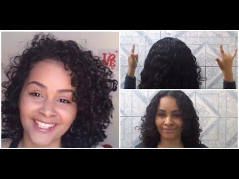 Como cortar cabelo cacheado sozinha | Manual dos Cachos - YouTube