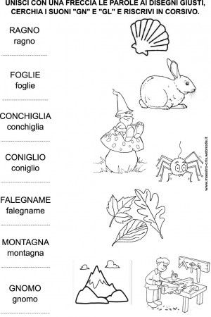 Worksheets Italian Language Worksheets 1000 images about italian worksheets on pinterest suoni gn gl unisci con una freccia classe prima