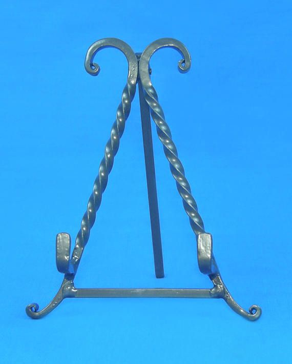 Decorative Twisted Iron Easel Display Stand 7.25 tall