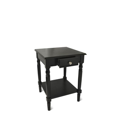 Convenience Concepts French Country Black End Table With Drawer And Shelf On SALE