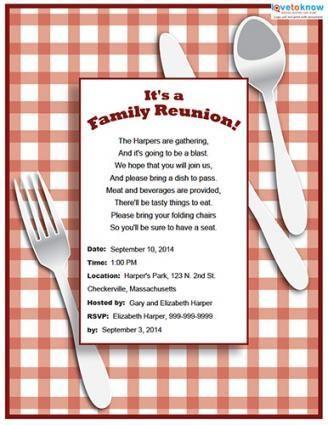 family reunion invitation wording family reunion flyers