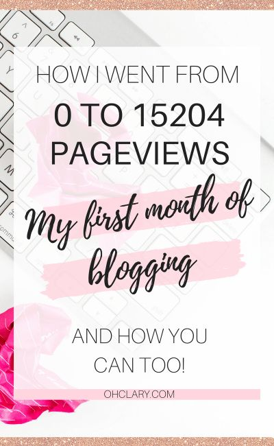 How I Went From 0 to 15204 Page Views in My First Month of Blogging – Clary|Crafts+IKEA Hacks+Keto
