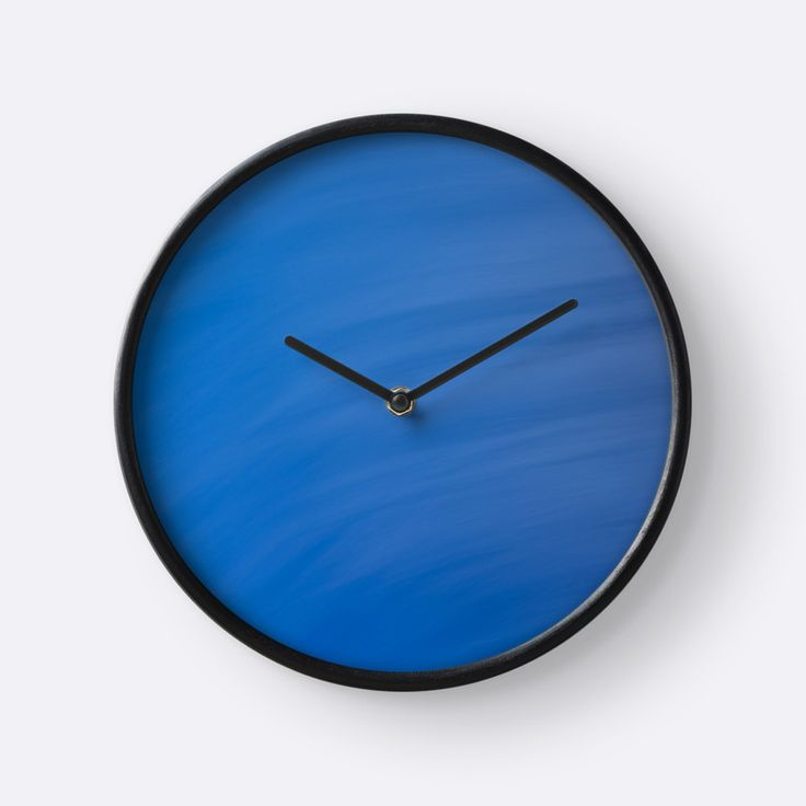 Blue Wave Abstract clock by Galerie 503