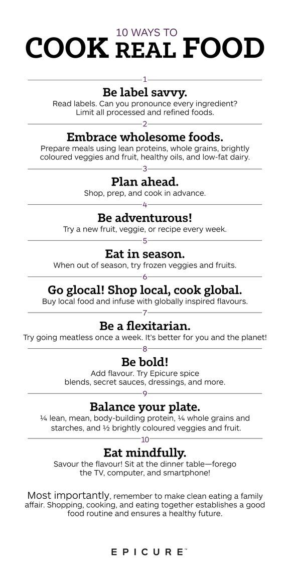 10 Ways to Cook Real Food