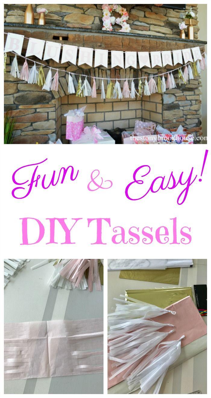 craft ideas homemade bridal shower decoration%0A Fun  u     Easy DIY Tassels