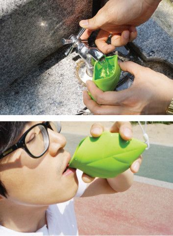 Leaf Shaped Silicone Pocket Cup. I can't even tell you how much I love this!