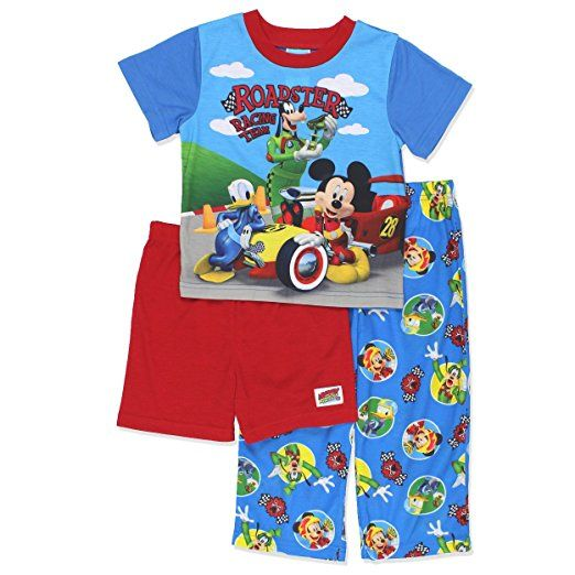 c7cf88395c13 Mickey Mouse and The Roadster Racers Boys 3 Piece Pajamas Set (Blue ...