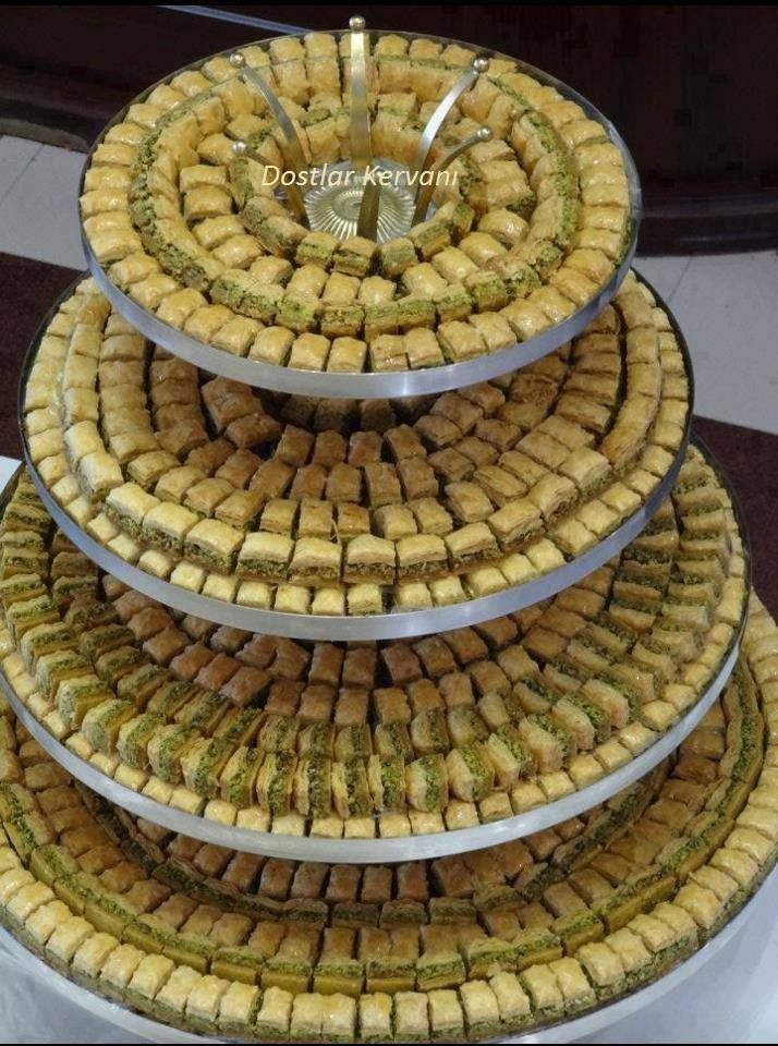 Turkish Baklava - famous desert, Gaziantep - Turkey