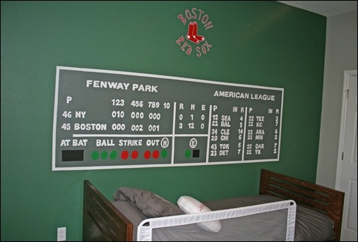 Fenway Park Green Monster Wall Mural For The Man Cave
