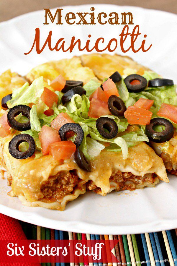 Healthy Meals Monday: Mexican Manicotti