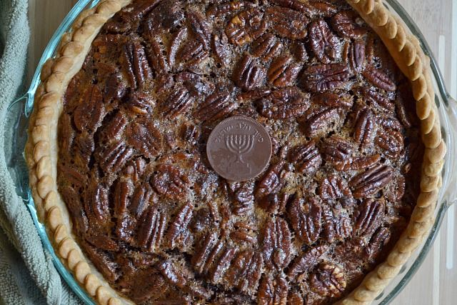 Chocolate Gelt Pecan Pie: Thanksgivukkah Recipe, Pecans Pies, Gelt Pecans, Chocolates Gelt, Celebrities Thanksgivukkah, Gelt Pies, Community Post, 13 Things, Proper Celebrities