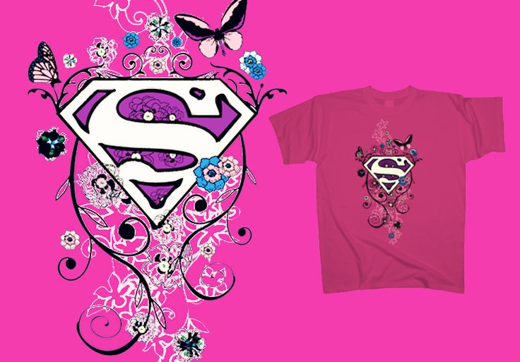 #Supegirls don't cry. Supergirls just fly. You can make your autumn blossom as well, by getting this flowery and colourful #tshirt at http://www.toonshirts.com/products/superheroes/46-superman-in-bloom