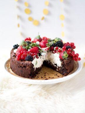 Ultieme kerst brownietaart