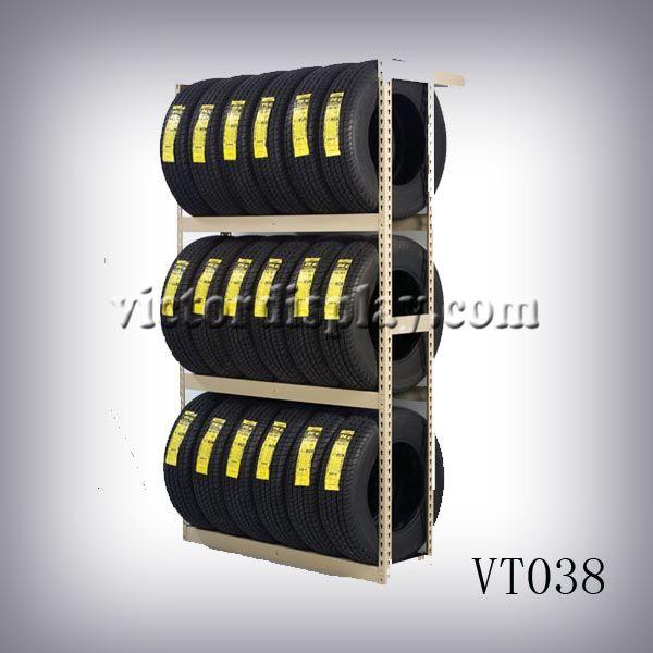 Buy tire display products: tire showroom rack,tire racks,tire display stands,tire storage rack,tire storage shelf at Xiamen Victor Industry & Trade Co., Ltd www.victordisplay.com