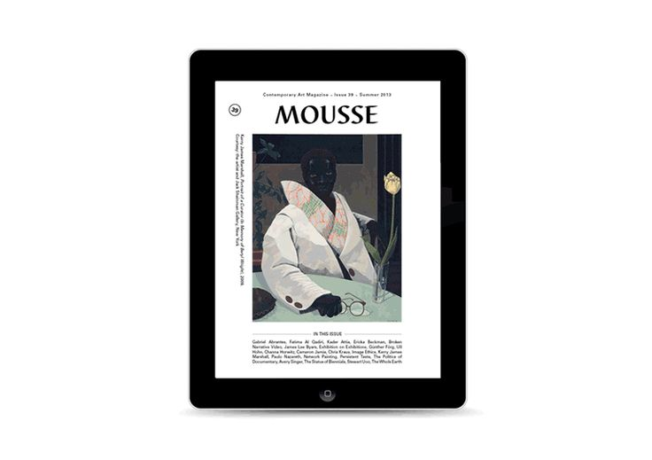 Mousse 39 available on iTunes Store https://itunes.apple.com/it/app/mousse-magazine/id475785292?mt=8