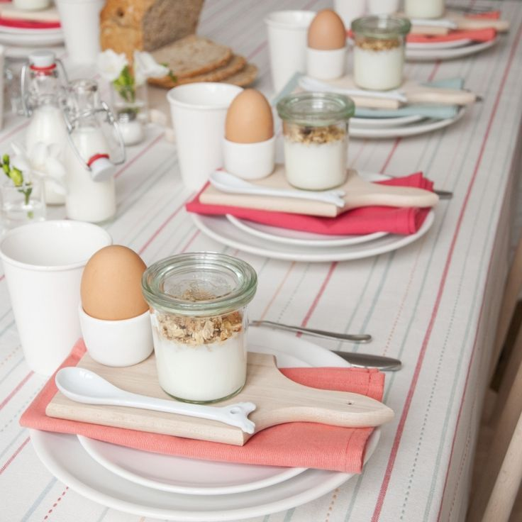 Perfect table for spring or summer guest breakfast.