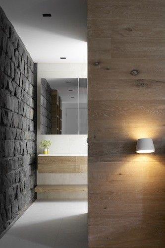 Smoked & Limed American Oak wall panelling by Royal Oak Floors. Robson Rak Architects - dale www.royaloakfloors.com.au