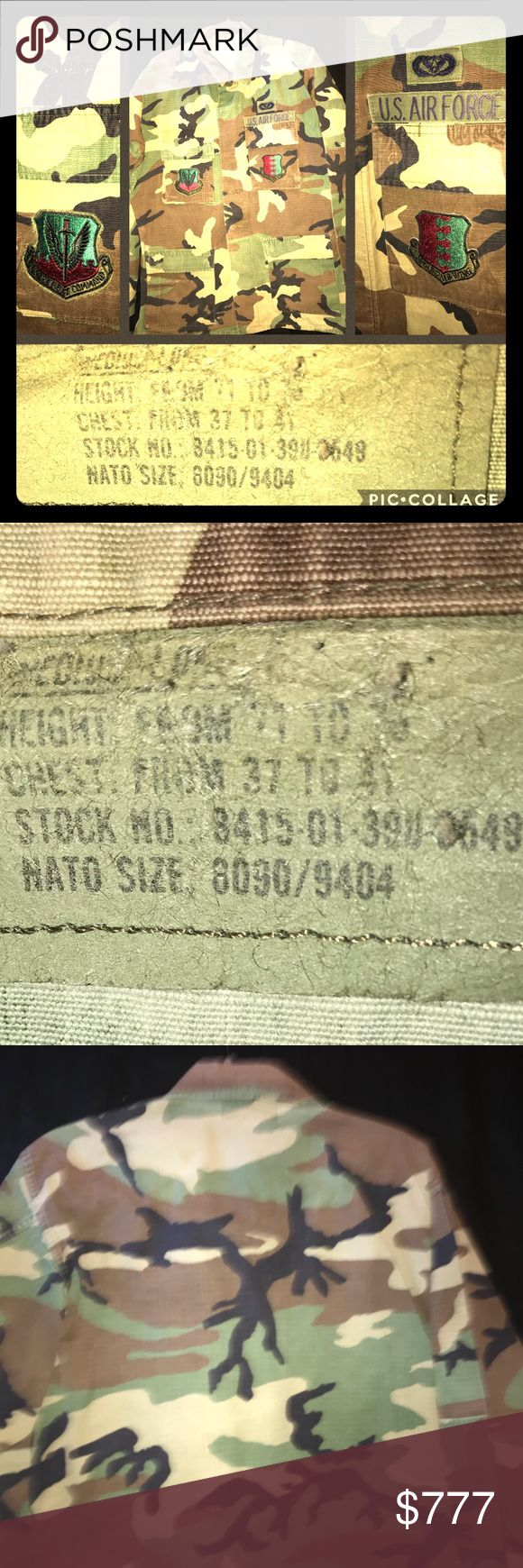 VTG 100%AUTHENTIC MILITARY CAMOUFLAGED COAT M/L VTG 100%AUTHENTIC MILITARY CAMOUFLAGED COAT M/L•VTG 100%AUTHENTIC MILITARY CAMO FEILD COAT MED-LG  •PLZ NOTW THZ IS A VTG ITEM SO ITS NOT FLAWLESS•It is on EUC ESPECIALLY considering that it's VTG AND JUST ITS AGE,  PLZ SEE PIX FOR REF. •SEE PIX #2 FOR EXACT MEASUREMENTS •ASK ANY ?? •BE BLESSED XO. •Colors. BROWN GREEN BLACK CAMO Black Lettering and Black and AQUA TEAL BLUE&RED EMBROIDERED Golden Bronze Patches•PLZ ASK ANY ?? Vintage Jackets…
