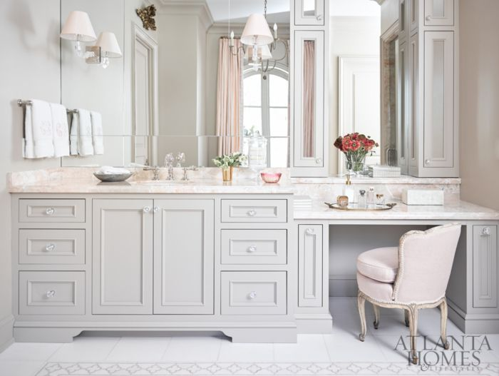 bathroom vanity with seating area. We re Blushing 1612 best Beautiful Bathrooms images on Pinterest  Bathroom ideas