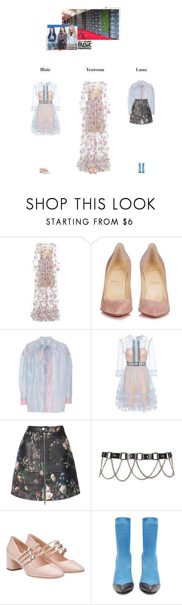 """""""— Heartbeat ♡ MAMA Awards 2017 / D-2"""" by heartbeat-official ❤ liked on Polyvore featuring Alcoolique, Christian Louboutin, Thierry Colson, Gucci, ADAM, Miu Miu, Toga, mama2017redcarpet and mama2017day2"""