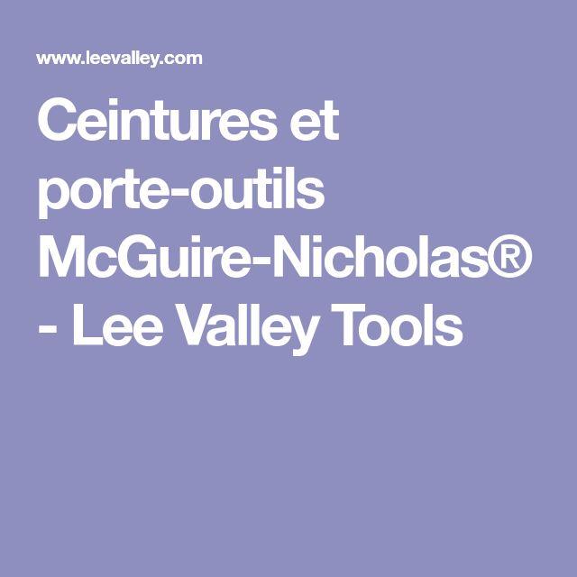 Ceintures et porte-outils McGuire-Nicholas® - Lee Valley Tools