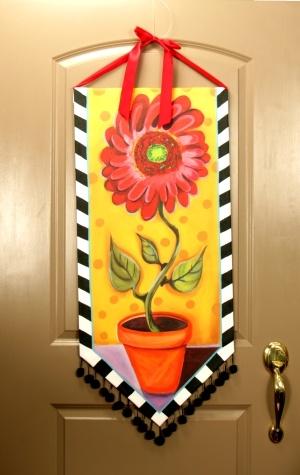 Banner Red Daisy Door Hanger & 56 best DECOR | Door Hangers \u0026 Banners images on Pinterest | Door ...