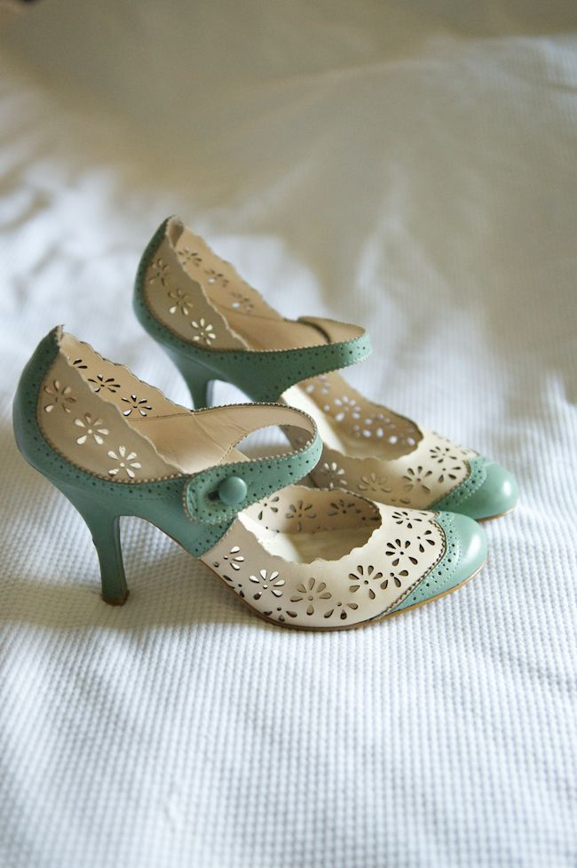 beautiful powder blue and ivory lace heels