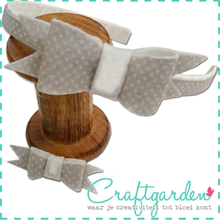 Hoe - maak - je - vilten - leren - strik - strikken - voor - haarband - diadeem - speld - DIY - craftgarden