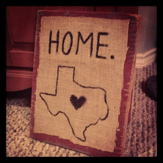 Texas Home wall decor by TexasTwangg on Etsy, $15.00