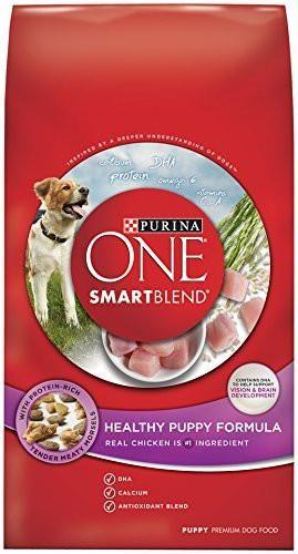 Purina ONE SmartBlend Healthy Puppy Formula Dry Dog Food Standard Packaging 4 lb. Bag