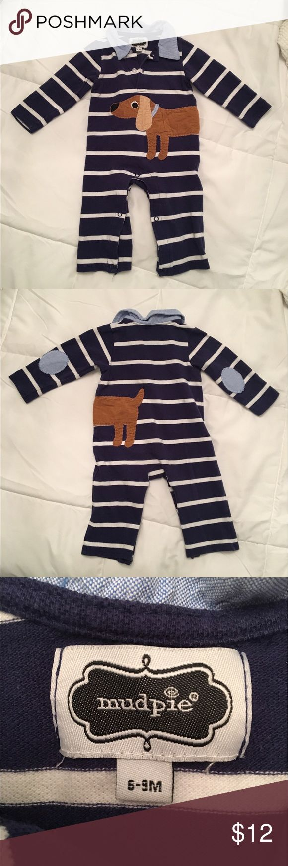 One-Piece Mud Pie Dog Dachshund with Elbow Patches Collared Mud Pie one-piece. Dog wraps around from front to back. In great condition! Mud Pie One Pieces