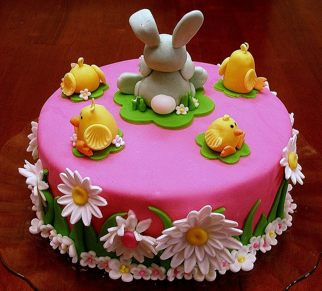 Easter Bunny and Chicks Cake (back) by OccasionCreations, via Flickr