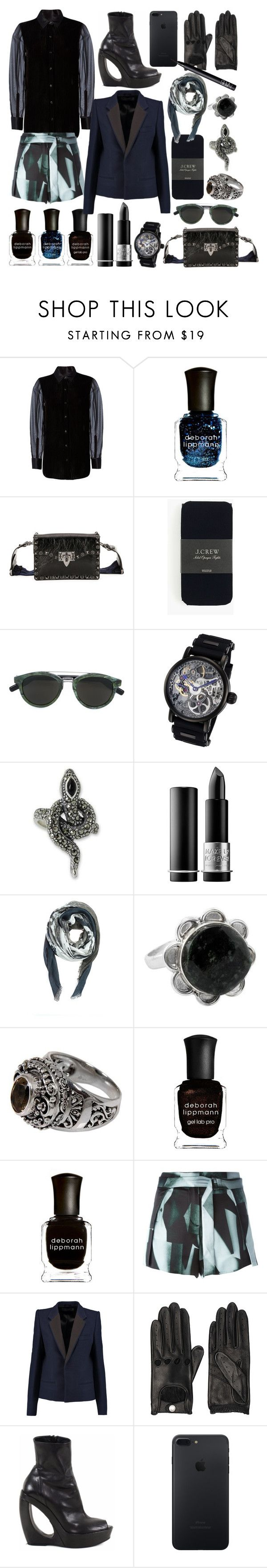 """""""love snake"""" by nothingisnormal ❤ liked on Polyvore featuring rag & bone, Deborah Lippmann, Valentino, J.Crew, Rougois, NOVICA, MAKE UP FOR EVER, 8aout, Ann Demeulemeester and Haider Ackermann"""
