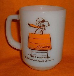 Fire-King Snoopy character coffee mug How to collect vintage Fire-King coffee mugs, bowls and kitchenware