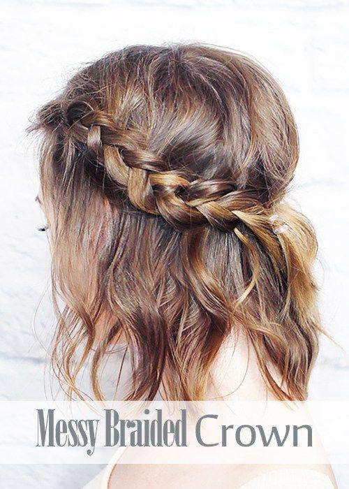 coiffures de fêtes cheveux mi-longs
