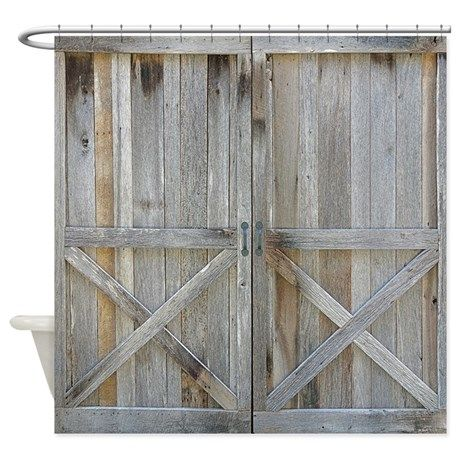 Old Rustic Barn Door Shower Curtain on CafePress.com                                                                                                                                                                                 More