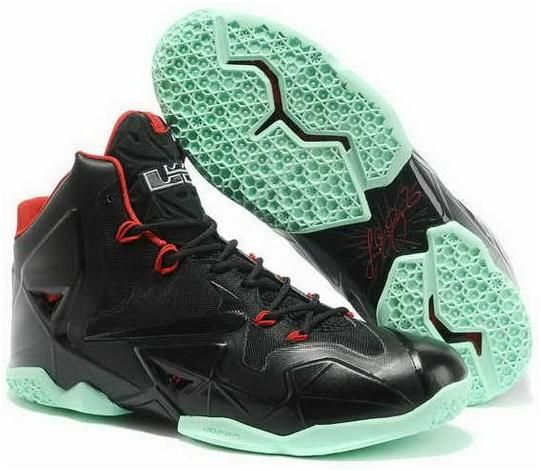 Nike Lebron 11 2013 Black Red Jade Running Shoes, cheap Nike Lebron If you  want to look Nike Lebron 11 2013 Black Red Jade Running Shoes, you can view  the ...
